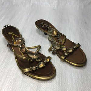 Giuseppe Zanotti Brown Jewel Magnifying Sandals